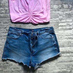 GAP High Rise size 33 / 16 Cheeky Denim Short